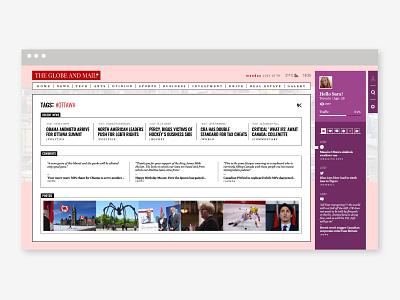 Online web newspaper layout graphic design type web ui ux online newspaper graphic editorial design design