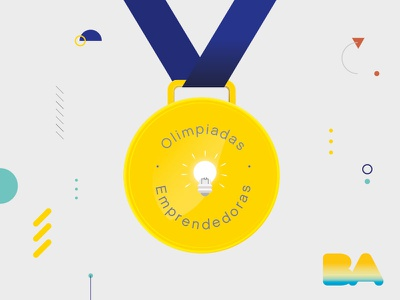 Olimpiadas Empendedoras entrepreneur olympics graphic design medal competition buenos aires branding