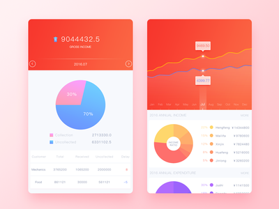 Financial Secretary data app ui