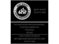 Bert White Home Enrichments Business Cards