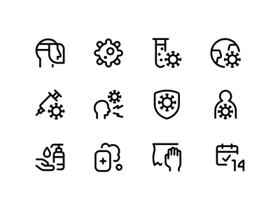 140 Free Vector Covid Icons freebies free virus covid vector icons