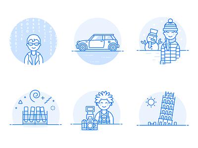 Duotone Illustrations vectors illustrations icons