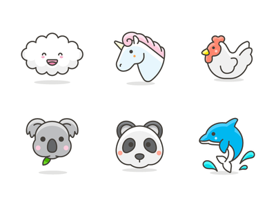 """Kawaii"" Emoji free vector illustrations emoji icons"