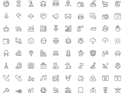 EGO Icons is out! 100 Free icons 🎉 ui interface vector icons
