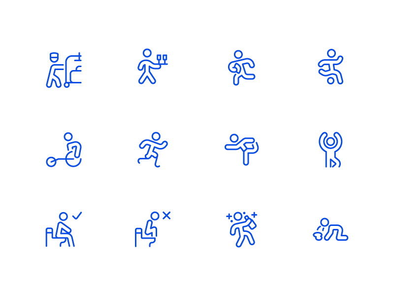 Wayfinding Icons - Streamline 3.0 signage signs finding way 11 ios minimal line icon
