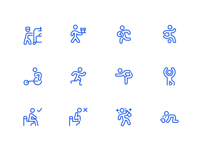 Wayfinding Icons - Streamline 3.0 signage signs finding way 11 ios minimal line icon