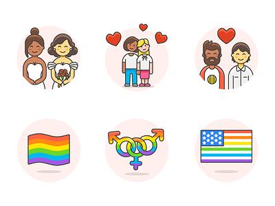 240 Free LGBT Illustrations 🏳️🌈👭👬 diversity homosexual same sex icons illustrations transgender lesbian gay lgbt