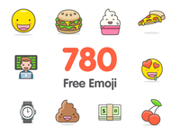 🎉 780+ Free Vector Emoji freebie free vector icon emoticons emoji