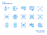 Streamline 3.0 | Login icons