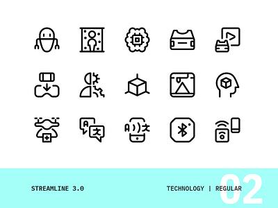 Streamline | 02 - Technology vector ui interface icons set icon simple modern design