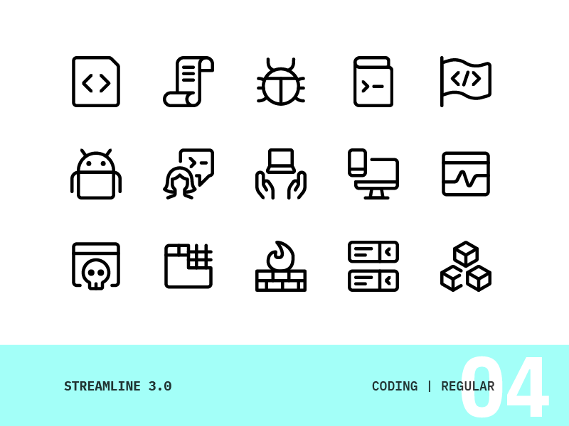 Streamline | 04 - Coding vector ui interface icons set icon simple modern design