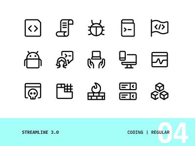 Streamline | 04 - Coding vector ui interface icons set icon simple modern design