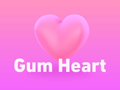 Gumheart illustration c4d