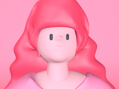 Pinkgal graphic c4d illustration