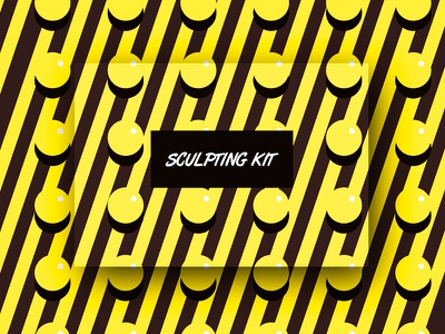 Sculpting Kit graphic packaging