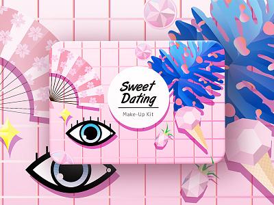 Sweet dating Makeup Kit packaging
