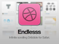 Infinite scrolling for Dribbble, with Endlesss!