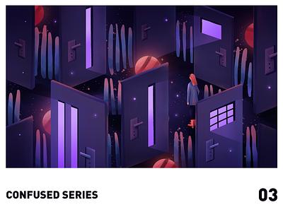 Confused series03 illustration