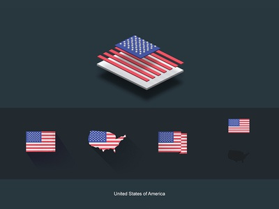 Flat Flags USA redbubble store american usa flags world map flat design gifts