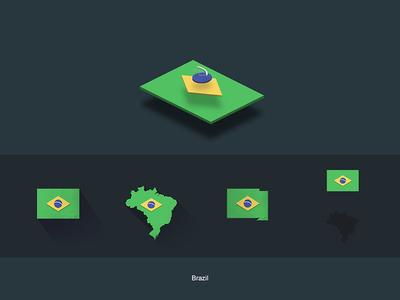 Flat Flags Brazil gifts design flat map world flags brazil america store redbubble