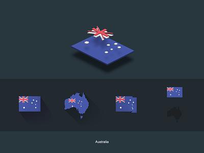 Flat Flags Australia redbubble store oceania australia flags world map flat design gifts