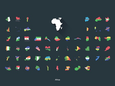 Flat Flags Africa boundaries continent africa redbubble store flags world map flat design gifts
