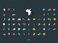 Flat Flags Africa