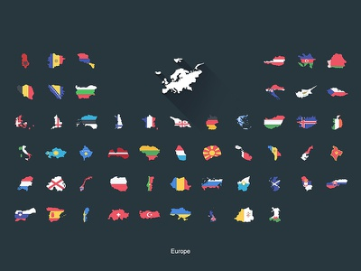 Flat Flags Europe gifts design flat map world flags store redbubble europe continent boundaries