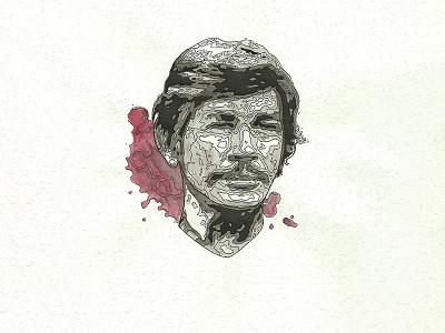80's Action Hero Bronson seven westerm death wish geek movies hero action india ink watercolor traditional bronson