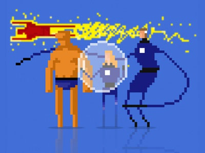 8-bit Fantastic four fantastic four marvel 8-bit human torch mr fantastic the thing invisible woman
