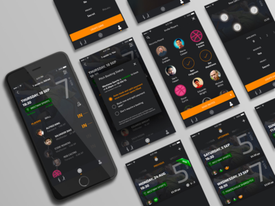 PitchUp UI | Hello Dribbble win location time previous upcoming contact invite iphone ui card list friends pitch booking soccer football app hello dribbble first shot debut football app