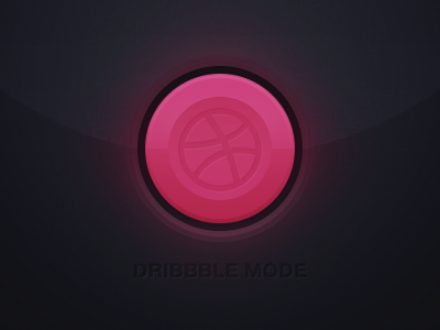 dribbble mode: on debut button dribbble welcome