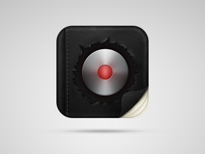 Assistant icon draft assistant ios icon record button leather texture