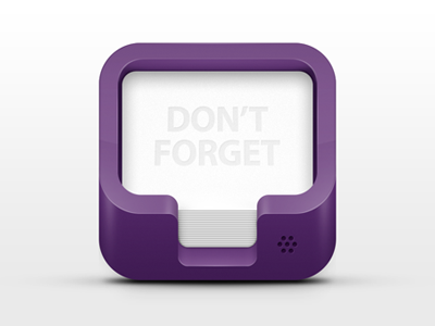 Don't forget icon 3d ios app iphone icon dont forget voice calendar