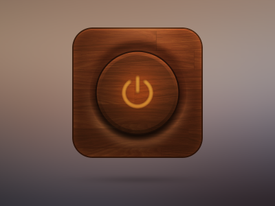 Off icon off icon switch ios wood texture design button