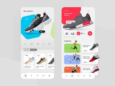 Shoe App E-commerce shoes ecommerce sneaker shoe app cepixel behance application webdesign mobile website