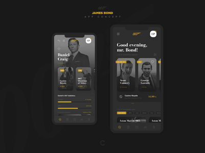 007 App Concept application mobile cinema cepixel app film movie wikipedia wiki agent 007 james bond