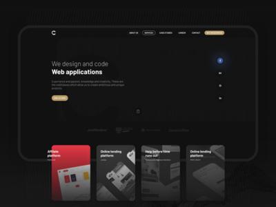 New CePixel software house agency design behance application cepixel webdesign website
