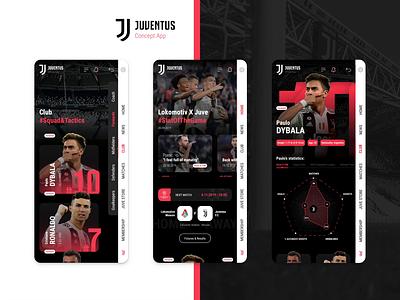 Juve Statistics Mobile App webdesign cepixel dybala ronaldo soccer sport statistics mobile app fifa 20 football pro evolution soccer pes fifa juventus juve