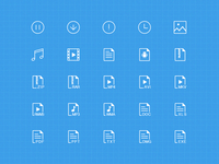 The file type icons