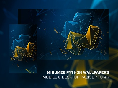 Mirumee Python Wallpaper Pack (with download) wallpaper logo python artwork handmade design webdesign quality mirumee illustration