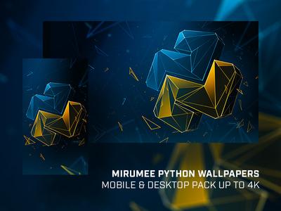 Mirumee Python Wallpaper Pack (with download) wallpaper logo python artwork handmade design webdesign quality mirumee illustration