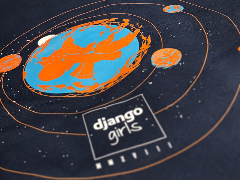 Django Girls Artwork 2k18 vector branding logo django typography handmade design illustration drawing