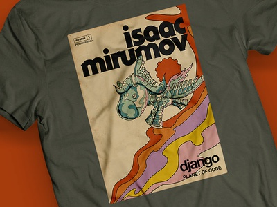 Archives No 01 - Isaac Django Tee cover artwork cover logo django typography handmade drawing quality mirumee design illustration