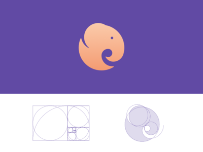 Golden Ratio Elephant Logo