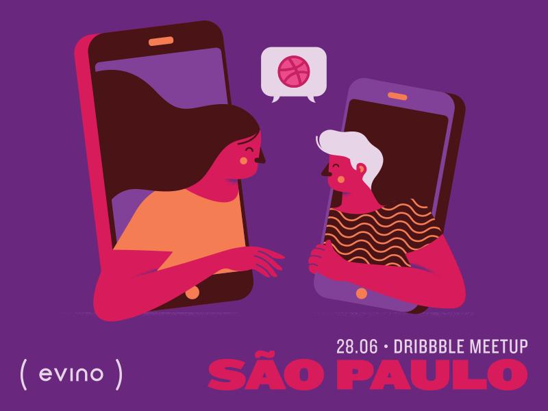 São Paulo Dribbble Meetup são paulo vector rsvp invite design meetup event dribbble illustration