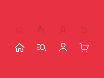 E-commerce Icon Set Redesign