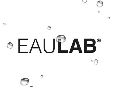 EAULAB packaging water branding logo