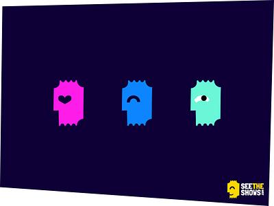 Ticket icons colorful branding ticket iconography icon design icon set icon