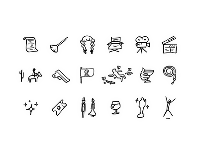 Sketch style icons icon set icons sketches sketch